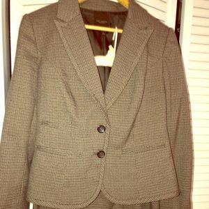 Women's Skirt Suit - brown tweed